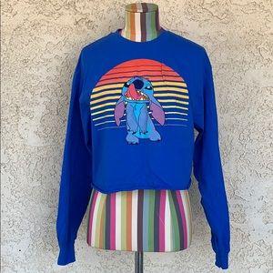 Disney Lilo and Stitch Crop Top Sweatshirt